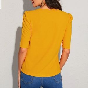 SHEIN Tops - Scallop trim solid blouse